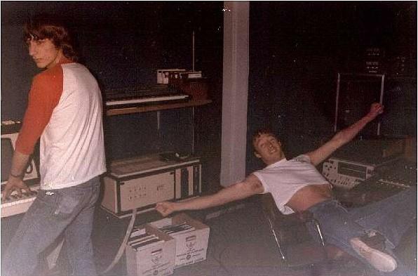 picture of John Evers and John Clark at ESP studios.