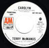 B side label of Terry McManus promo single