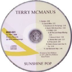 Terry McManus Sunshine Pop CD Label