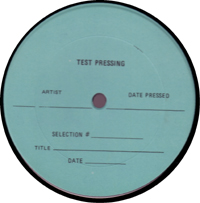 Robotman Test Pressing LP Label
